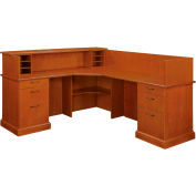 "Belmont Right Reception L Desk, 7130-66, Executive Cherry, 73-1/2""W x 88-1/2""D x 43""H"