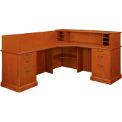 "Belmont Left Reception L Desk, 7130-67, Executive Cherry, 73-1/2""W x 88-1/2""D x 43""H"