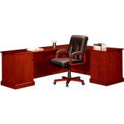 "Belmont Executive Desk Right CPU Corner L Unit, 72""W x 84""D x 30""H, Executive Cherry"