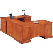 "Belmont Right Executive Corner U Desk, 7130-78, 72""W x 110""D x 30""H, Executive Cherry"