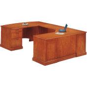 "Belmont Left Executive Corner U Desk, 7130-79, 72""W x 110""D x 30""H, Executive Cherry"