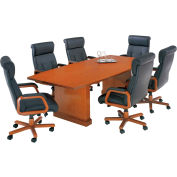 "Belmont 10' Boat Shaped Conf Table, 7130-97, 120""W x 48""D x 30""H, Executive Cherry"