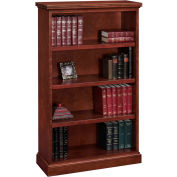 "Belmont Bookcase, 7132-060, 36""W x 15""D x 60""H, Brown Cherry"