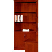 "Belmont Bookcase, 7132-09, 36""W x 15""D x 80""H, Brown Cherry"