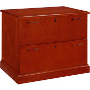 "Flexsteel Lateral File - 36""W x 24""D x 30""H - Brown Cherry - Belmont Series"