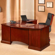 "Belmont Right Computer L Desk, 7132-27, 72""W x 84""D x 30""H, Brown Cherry"