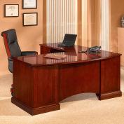 """Belmont Left Computer L Desk, 7132-28, 72""""W x 84""""D x 30""""H, Brown Cherry"""