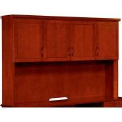 """Belmont Overhead Storage, 7132-62, 72""""W x 15""""D x 50""""H, Brown Cherry"""