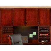 """Belmont Overhead Storage W/Organizers, 7132-625, 72""""W x 15""""D x 50""""H, Brown Cherry"""