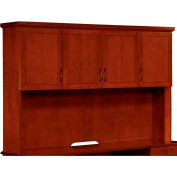 "Belmont Overhead Storage W/Full Return Moulding, 7132-63, 74-1/2""W x 15""D x 50""H, Brown Cherry"