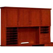 """Belmont Overhead Storage W/Organizers, 7132-635, 74-1/2""""W x 15""""D x 50""""H, Brown Cherry"""