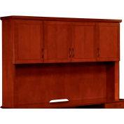 "Belmont Overhead Storage W/Full Return Moulding, 7132-64, 72""W x 15""D x 50""H, Brown Cherry"