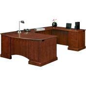"Belmont Executive Right U W/Corner Desk, 7132-847, 72""W x 110""D x 30""H, Brown Cherry"