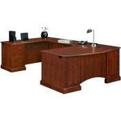 "Belmont Executive Left U W/Corner Desk, 7132-848, 72""W x 110""D x 30""H, Brown Cherry"