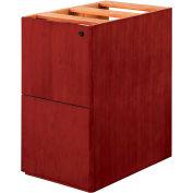 "DMI Saratoga File/File Pedestal, 15-1/4""W x 18-1/4""D x 28-1/2""H, Cherry Finish"