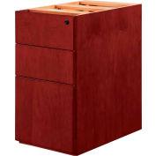 "DMI Saratoga Box/Box/File Pedestal, 15-1/4""W x 18-1/4""D x 28-1/2""H, Cherry Finish"