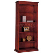 "Del Mar Left Hand Facing Bookcase 34-3/4""W x 16""D x 78""H, Cherry Finish"