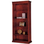 "Del Mar Right Hand Facing Bookcase 34-3/4""W x 16""D x 78""H, Cherry Finish"