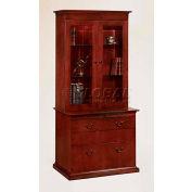 """Del Mar Closed Bookcase 36""""W x 16""""D x 48-1/4""""H, Cherry Finish"""