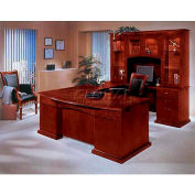 """Del Mar Right Executive U Desk with Bow Front 72""""W x 114""""D x 30""""H, Cherry Finish"""