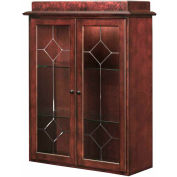 """DMI Oxmoor Two-Door Stacking Bookcase for Lateral File 36""""W x 16""""D x 48""""H Cherry Finish"""