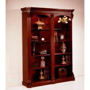 "Flexsteel Double Bookcase 60""W x 17""D x 76""H Cherry Finish - Balmoor Series"