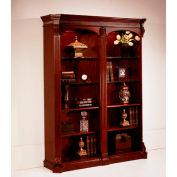 "DMI Balmoor Double Bookcase 60""W x 17""D x 76""H Cherry Finish"