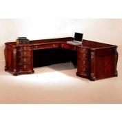 "DMI Balmoor Left Executive L Desk 76""W x 92""D x 30""H Cherry Finish"
