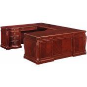 "Flexsteel Left Executive U Desk 76""W x 112.5""D x 30""H Cherry Finish - Balmoor Series"