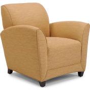 """DMI Charisma Chair 32""""W X 35""""D X 34""""H Winslow Cashew Fabric with Mocha Legs"""