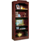 """Governors Series Bookcase 30""""W x 14""""D x 74""""H Mahogany Finish 5 Shelf"""