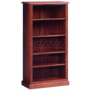 "Governors Series Bookcase 32""W x 16""D x 60""H Mahogany Finish"