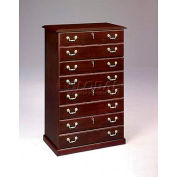 "Governors Series Four Drawer Lateral File 36""W x 22""D x 56""H Mahogany Finish"