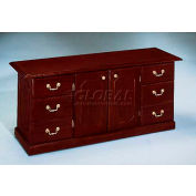 "Governors Series Executive Credenza 66""W x 20""D x 30""H Mahogany Finish"