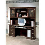 """Governors Series Tower CPU Computer Credenza 66""""W x 20""""D x 30""""H Mahogany Finish"""