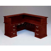 "Governors Series Right Reception L Desk 72""W x 76""D x 30""H Mahogany Finish"