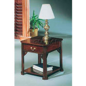 "Flexsteel End Table 26""W x 21""D x 22""H Mahogany Finish - Governors Series"
