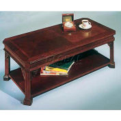 "Governors Series Rectangular Cocktail Table 48""W x 24""D x 16""H Mahogany Finish"
