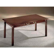 "Flexsteel Table Desk 72""W x 36""D x 30""H Mahogany Finish - Governors Series"