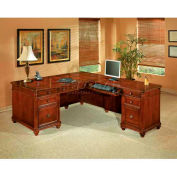 "Flexsteel Executive L Desk with Right Return - 72""L x 84""W x 30""H - Antigua Series"