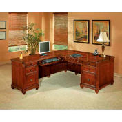 "Flexsteel Executive L Desk with Left Return - 72""L x 84""W x 30""H - Antigua Series"