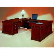 """Flexsteel Right Executive U Desk - 72""""L x 108""""W x 30""""H - Rue De Lyon Series"""