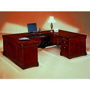 "Flexsteel Left Executive U Desk - 72""L x 108""W x 30""H - Rue De Lyon Series"