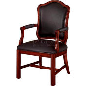 """Rue De Lyon Shaped High Back Guest Chair - 24-1/2""""L x 22-1/2""""W x 43-1/2""""H"""