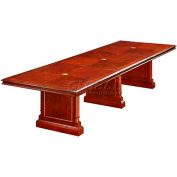 "Keswick 12' Boat-Shaped Expandable Conference Table - 144""L x 48""W x 30""H"