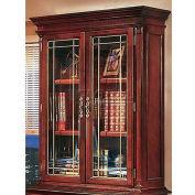 "Keswick Overhead Storage W/ Leaded Glass Doors - 36""L x 16""W x 50""H"