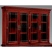 "Flexsteel Overhead Storage W/ Leaded Glass Doors - 71-3/4""L x 16""W x 50""H - Keswick Series"