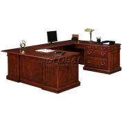 "Flexsteel Right Lateral File ""U""Desk - 72""L x 110""W x 30""H - Keswick Series"