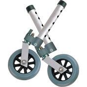 "Drive Medical 10115 5"" Swivel Walker Wheels with Lock, 1 Pair"