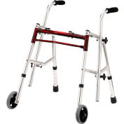 Drive Medical Glider Walker 10222FRD-1, Junior, Flame Red